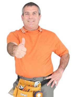 Denver sprinkler repair man gives the thumbs up